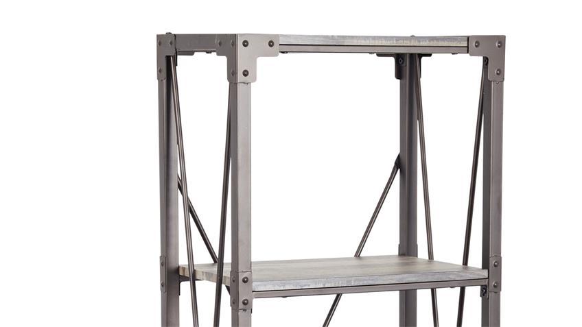Regal Buffalo Metall schwarz Treibholzoptik Höhe 160 cm