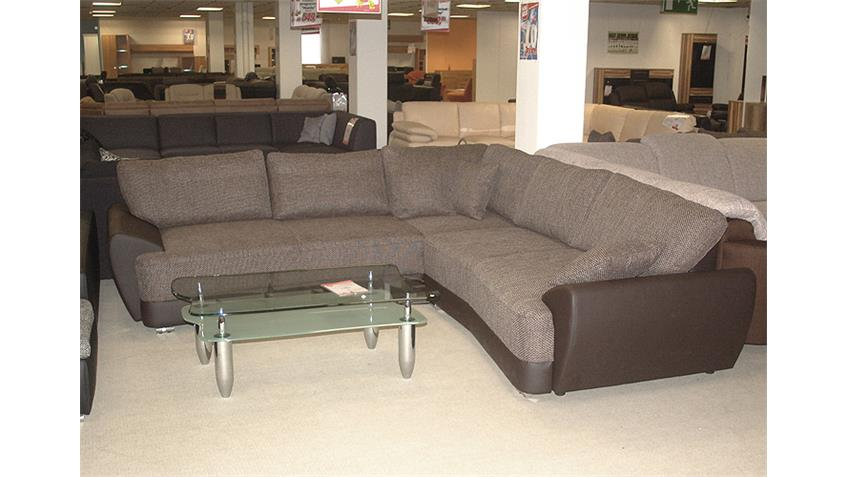 Ecksofa BARACUDA Sofa Couch braun beige mit Schlaffunktion
