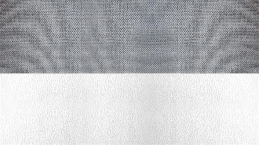 Wohnlandschaft ALAN weiß grau mit Funktionen Rec re 200x293