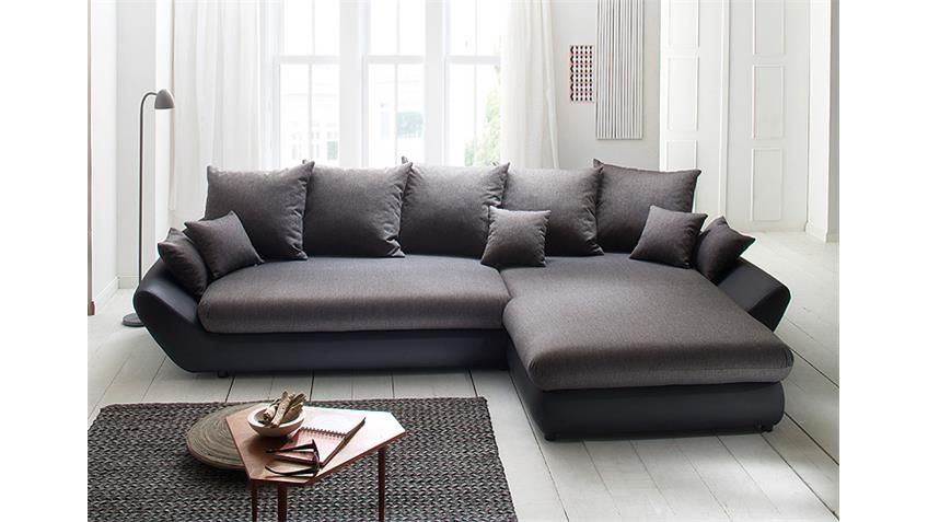 ecksofa moon in schwarz und grau rec rechts 325x193. Black Bedroom Furniture Sets. Home Design Ideas