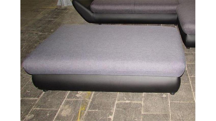 Ecksofa MOON in schwarz und grau Rec rechts 325x193