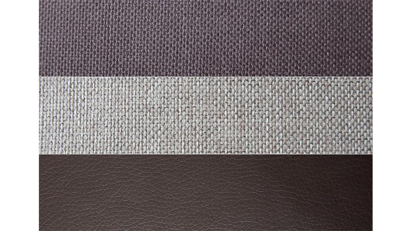 Ecksofa ZENZO braun und grau inkl. Kissen Rec rechts 303x175