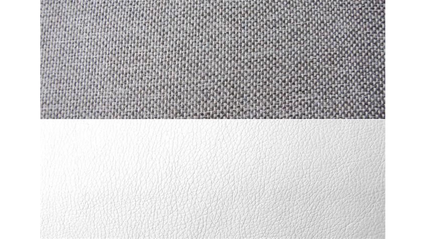 Ecksofa SOLO weiß und grau inkl. Bettkasten Rec re 300x205
