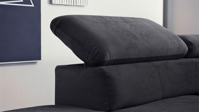 ecksofa sun sofa schwarz mit funktion und kissen 236x260. Black Bedroom Furniture Sets. Home Design Ideas