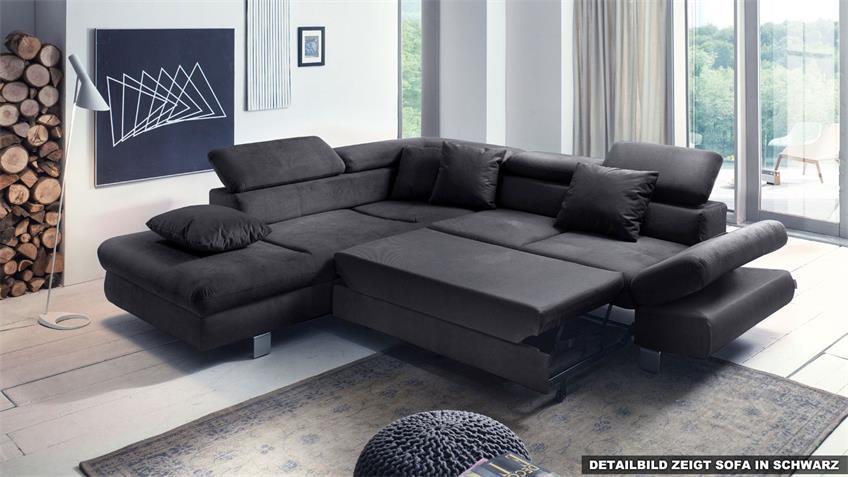 ecksofa sun sofa grau schwarz mit funktion 236x260 cm. Black Bedroom Furniture Sets. Home Design Ideas