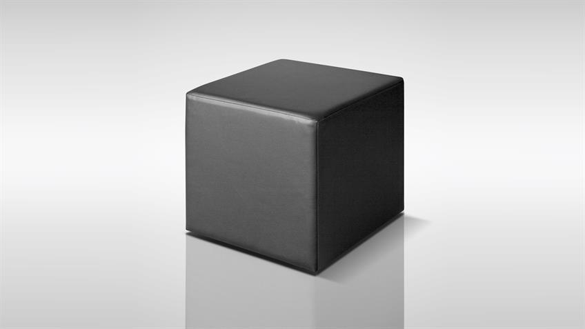 Sitzwürfel KUBUS Polsterhocker in schwarz Höhe 45 cm
