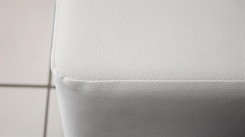 Sitzwürfel KUBUS Polsterhocker in weiß Höhe 45 cm