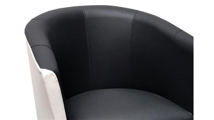 Cocktailsessel COCK Sessel Clubsessel in weiß und schwarz