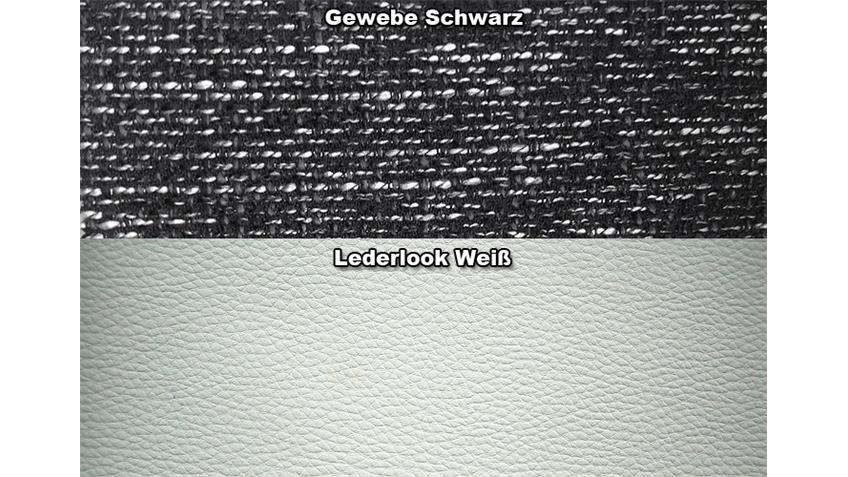 Eckgarnitur CORA Weiß und Schwarz OT L 197x282 inkl. Kissen
