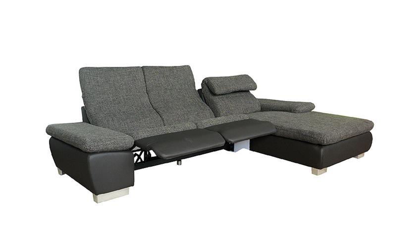 Eckgarnitur ASTRA schwarz grau OT R inkl. Funktion 292x175