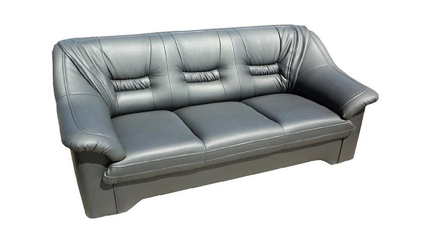 Sofa MILANO 3 Sitzer Couch Polstermöbel in grau 200 cm