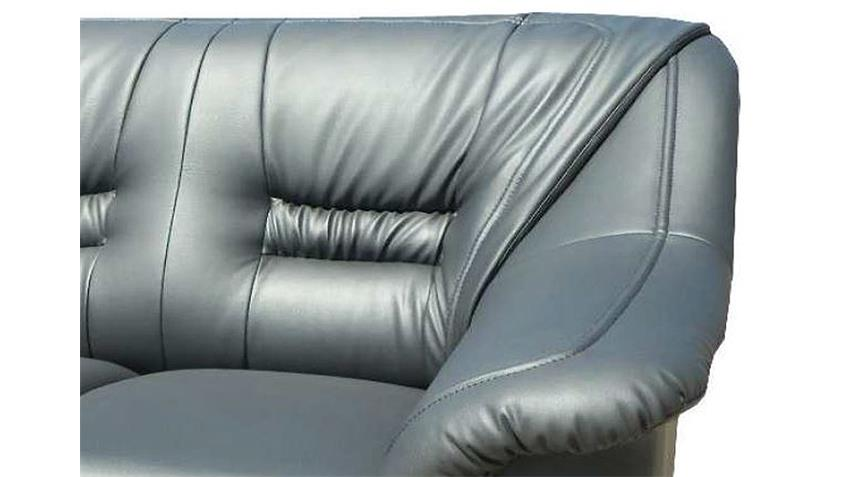 Sofa MILANO 2 Sitzer Couch Polstermöbel in grau 150 cm