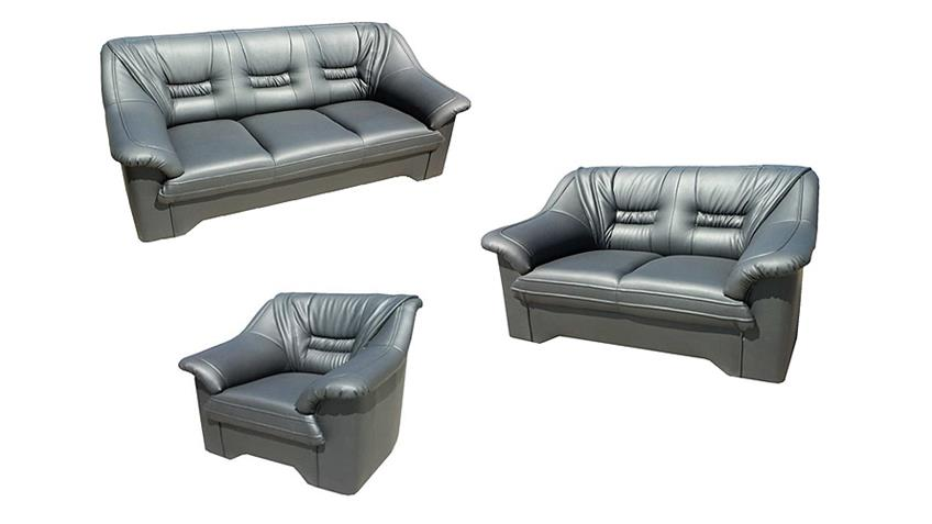 sofa milano 2 sitzer couch polsterm bel in grau 150 cm. Black Bedroom Furniture Sets. Home Design Ideas
