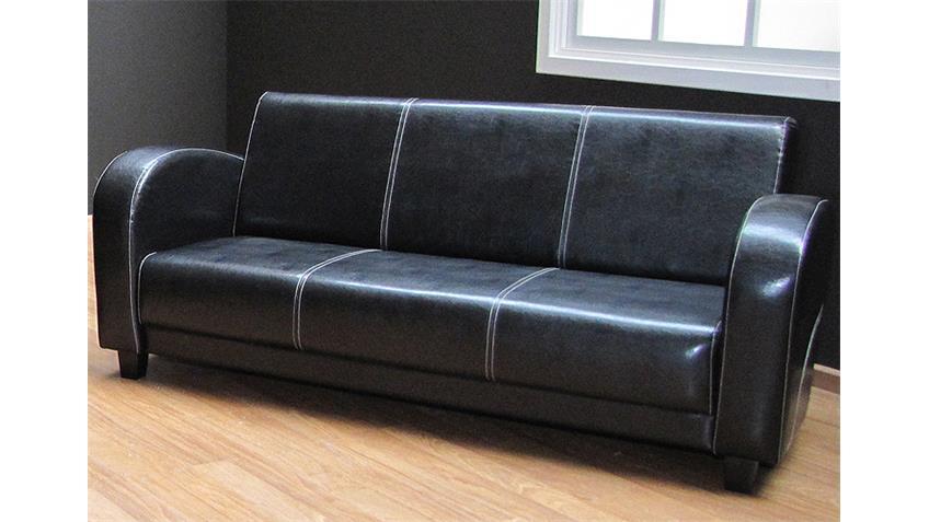 3er Sofa ANTIS 3 Sitzer Polstermöbel in Antik schwarz 190