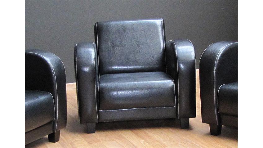Sessel ANTIS Fernsehsessel Einzelsessel antik schwarz 93 cm