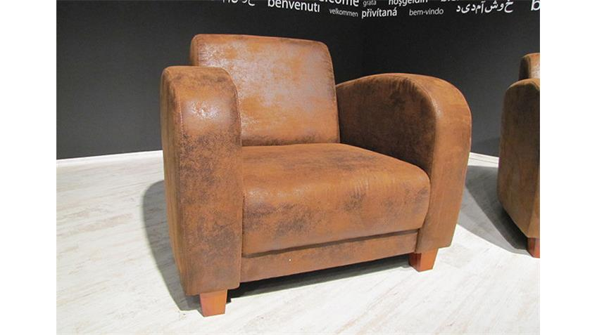 Sessel ANTIS Fernsehsessel in antik cognac braun 93 cm