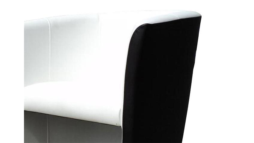 Cocktailsessel Club Clubsessel Sessel in schwarz und weiß