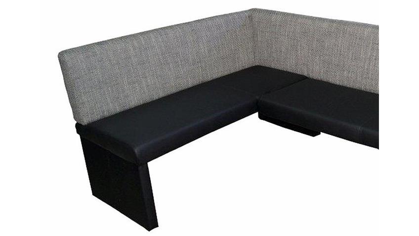 eckbank otto schwarz webstoff grau rechts 140x200. Black Bedroom Furniture Sets. Home Design Ideas