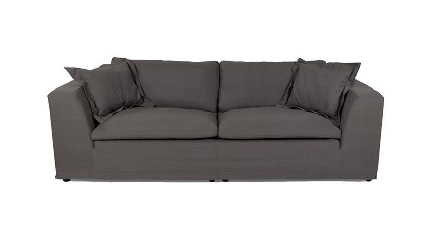 Sofa BETTY in grau Polstermöbel Bigsofa inklusive Kissen