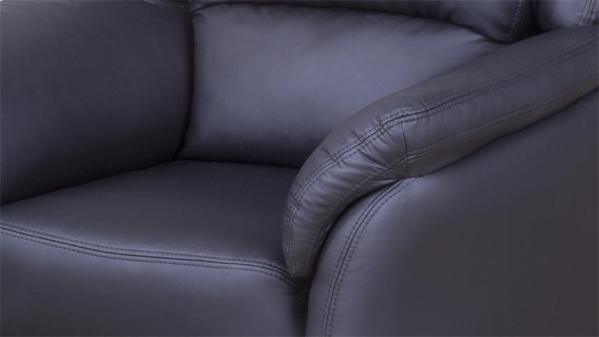 Sessel PISA Fernsehsessel Einzelsessel in schwarz Lederlook