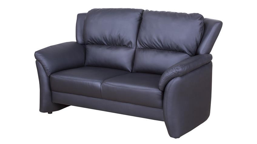 Sofa 2 Sitzer PISA Polstermöbel Couch in Lederlook schwarz