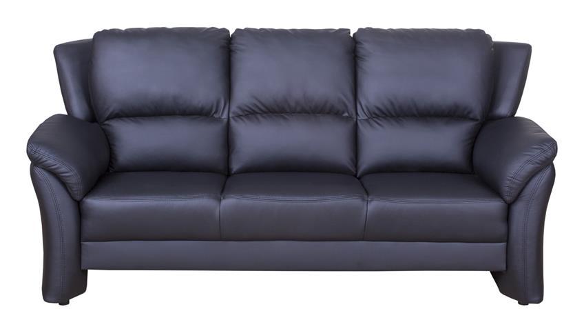 Sofa 3 Sitzer PISA Couch Polstermöbel in schwarz Lederlook