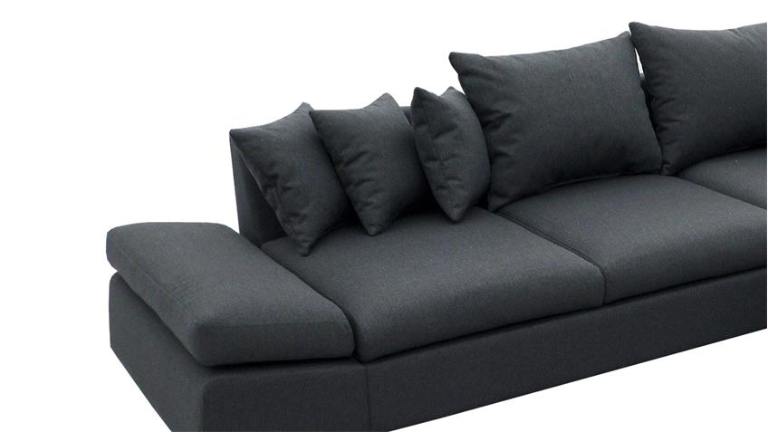 ecksofa scoota dunkelgrau inkl kissen nosagfederung links. Black Bedroom Furniture Sets. Home Design Ideas