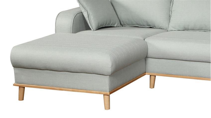 Ecksofa BEATA Sofa Wohnlandschaft Polstermöbel in mint grün 230 cm