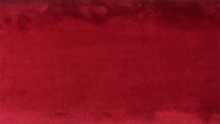 Sofa JARRY 3-Sitzer Couch Stoff samtweich rot mit Kissen