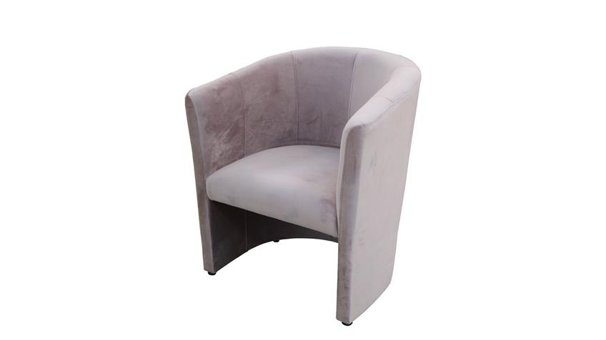 Cocktailsessel CLUB Sessel Clubsessel Stoff samtweich rosa