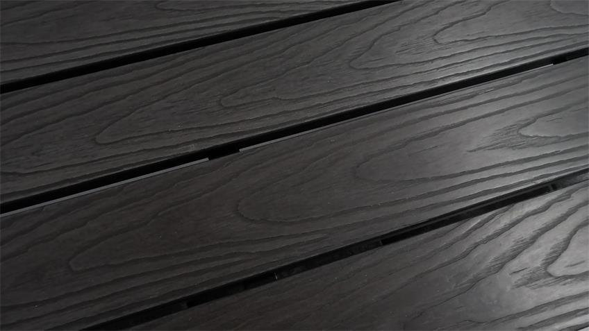 Sitzbank Polywood Küchenbank mit Rücken dunkelgrau anthrazit