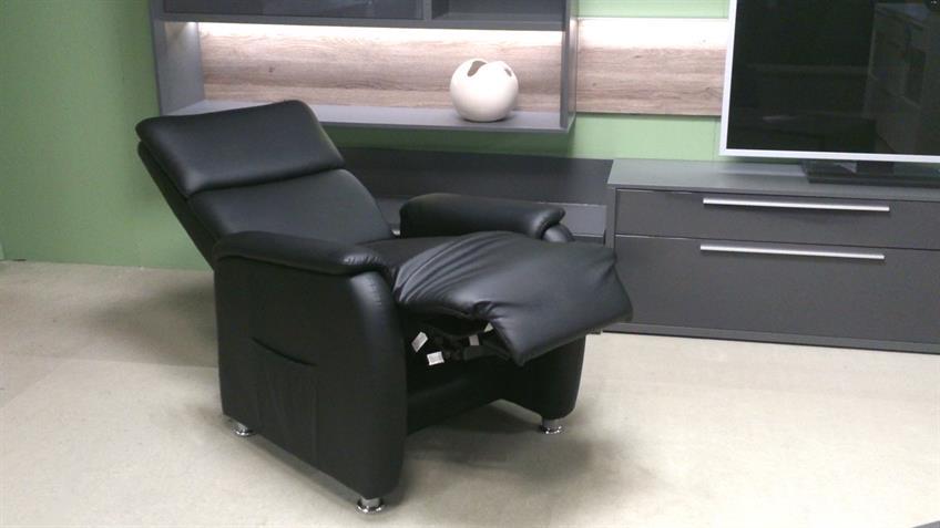 Fernsehsessel Relaxchair in schwarz mit Liegefunktion