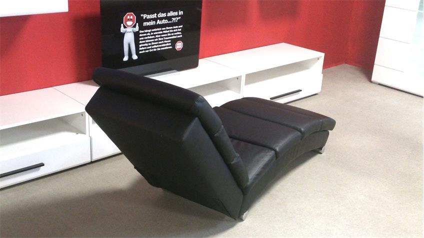 Polsterliege Relaxliege Chaiselongue Liegesessel schwarz