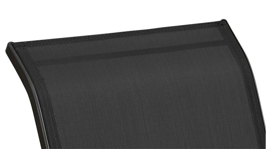 Stapelstuhl Gartenstuhl stapelbar in anthrazit und schwarz