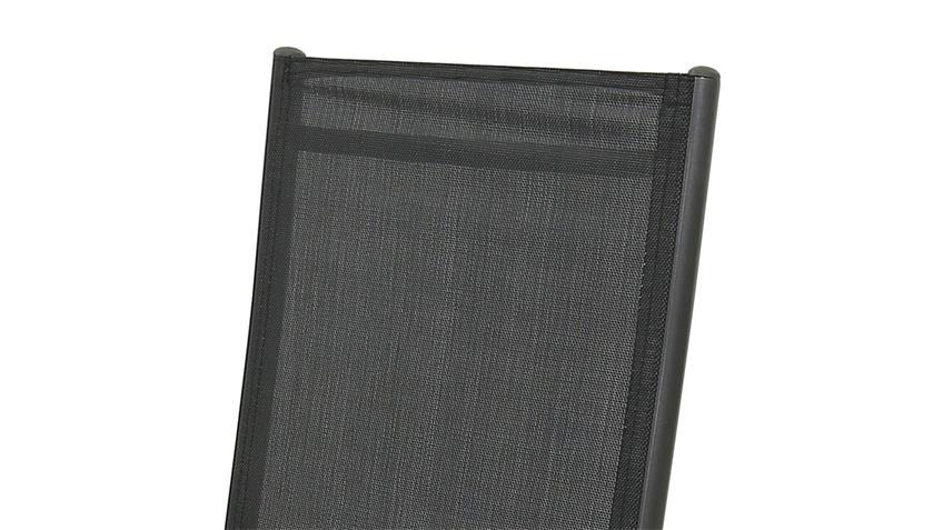 Relaxstuhl klappbarer Gartenstuhl in anthrazit schwarz