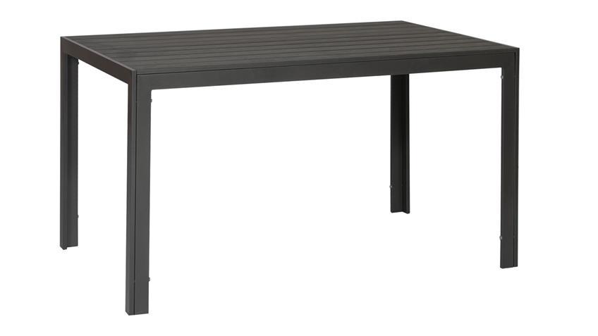 Tisch Outdoor geeignet 150x90 Tisch aus Aluminium Polywood anthrazit