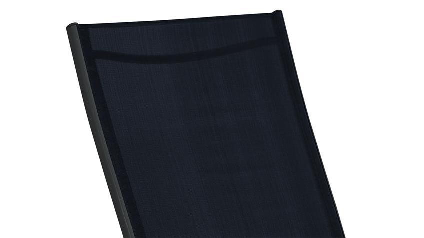 Loungeliege zusammenklappbarer Liegestuhl anthrazit schwarz