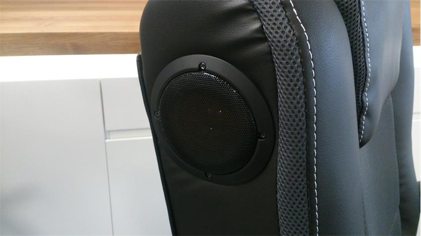 Gaming Chair Drehsessel Music Rocker schwarz Bluetooth