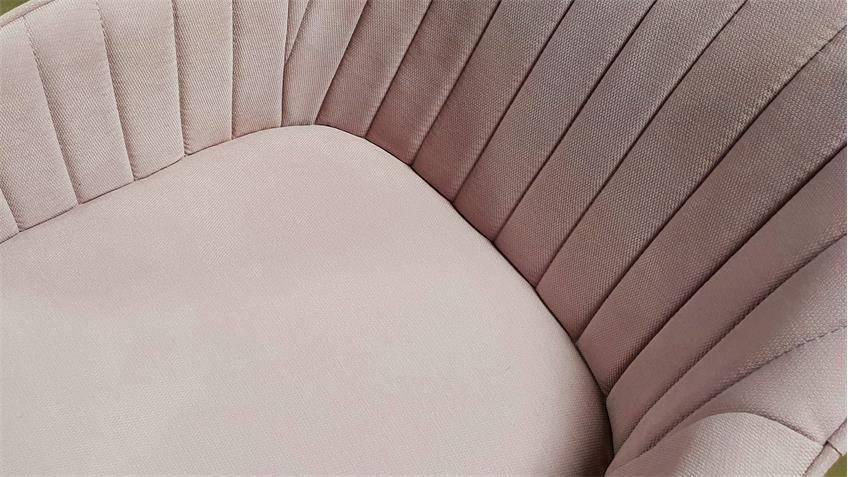 Armlehnstuhl Swivel gepolsterter Esszimmerstuhl in Altrosa