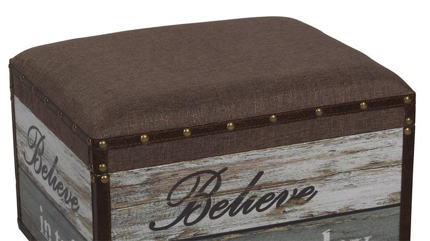 sitzhocker believe vintage retro gepolstert mit stauraum. Black Bedroom Furniture Sets. Home Design Ideas