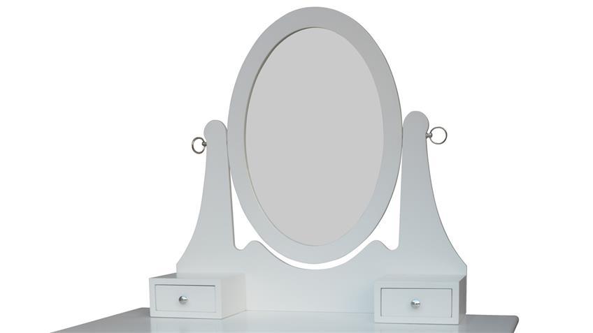 schminkkommode wei er frisiertisch mit spiegel schubk sten. Black Bedroom Furniture Sets. Home Design Ideas