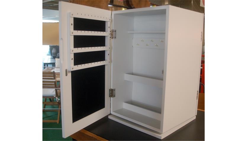 Schmuckschrank weißer Tisch-Spiegelschrank für Accessoires