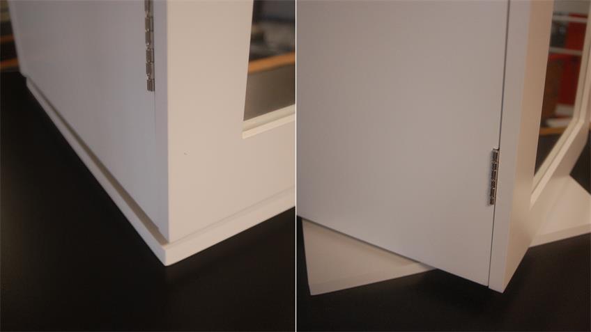 Schmuckschrank Kosmetikschrank drehbar in weiß mit Spiegel