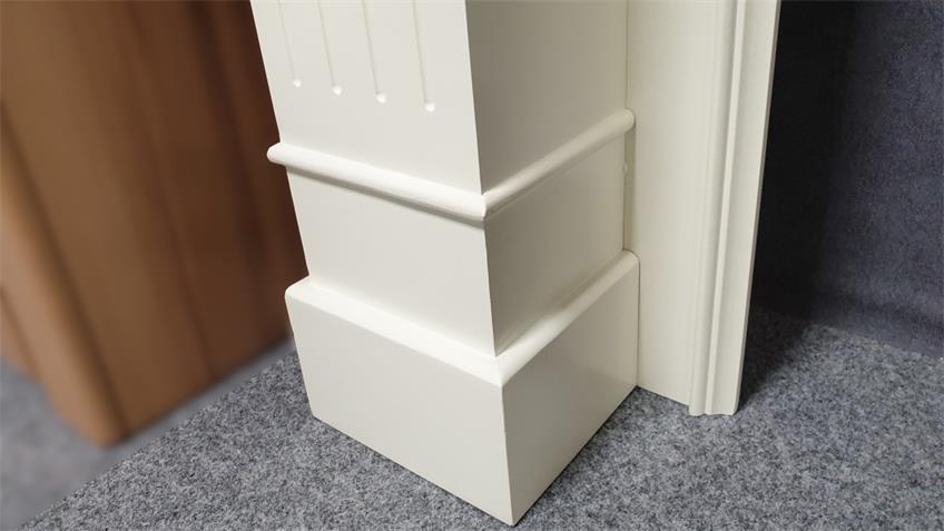 Kaminüberbau dekorativer Kaminsims in weiß 123x105 cm
