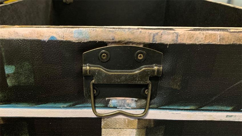 Truhe mit Palettendesign Sitzhocker Hocker mit Stauraum