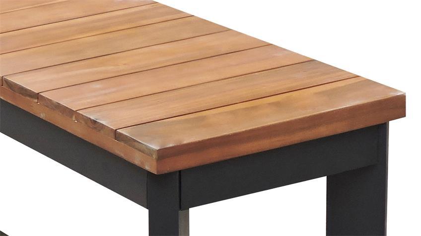 Essgruppe MILENA Tisch 180x90 Akazie 2 Sitzbänke In- Outdoor