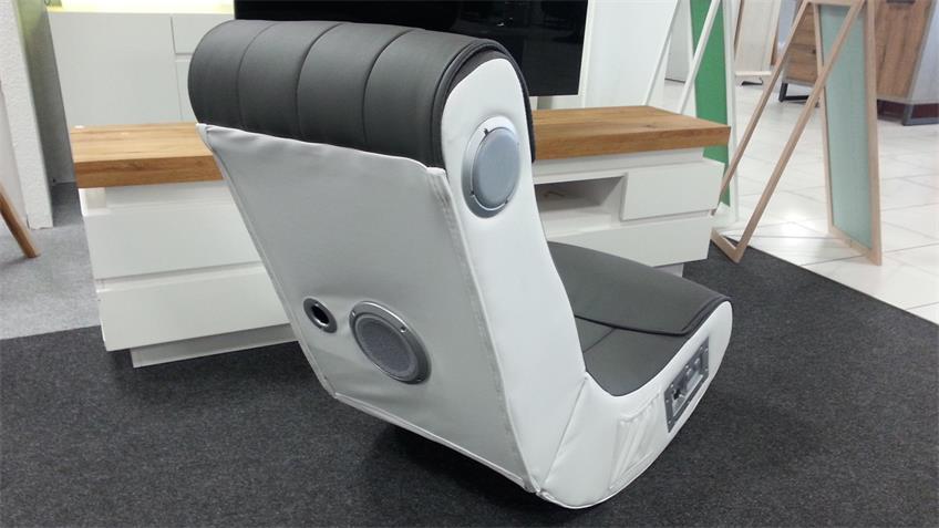Gaming Chair Soundz für Playstation XBOX Wii weiß grau