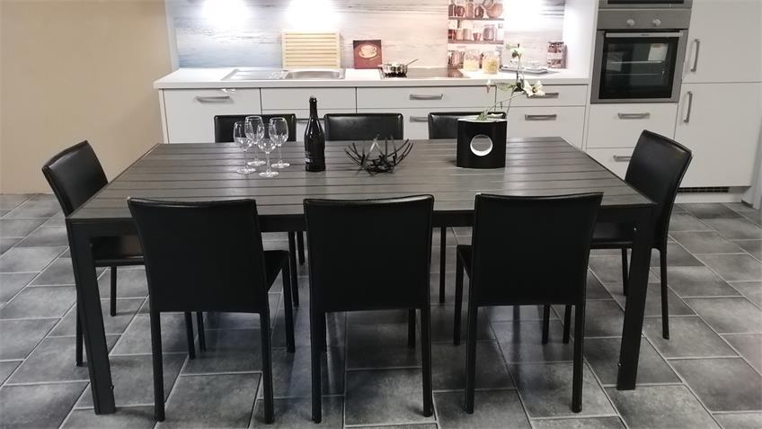 Esstisch Polywood anthrazit Aluminium Küchentisch 200x100 cm