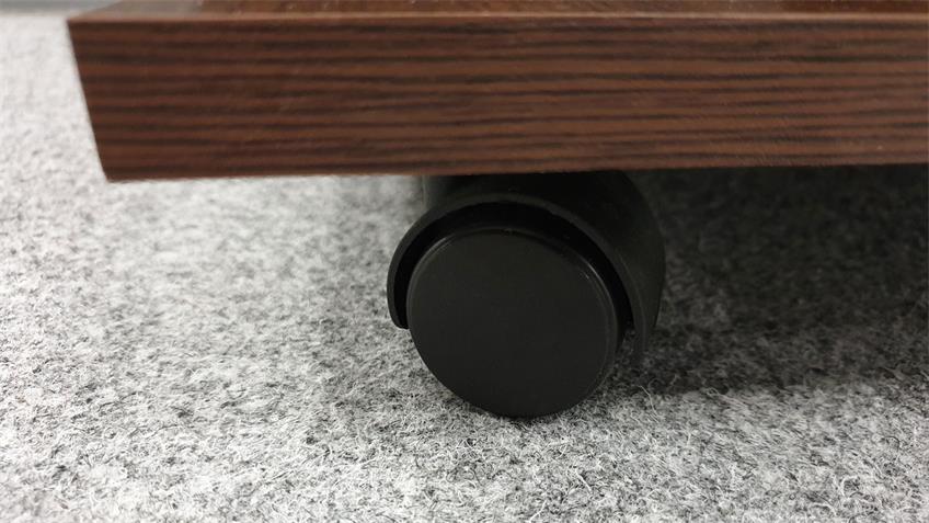 Couchtisch MAREIKE Rolltisch Wenge Dekor Rollen 80x80 cm