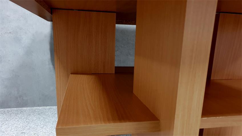 Couchtisch MARINA Nussbaum Dekor Beistelltisch 80x80 cm